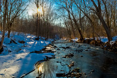 Cold River. A small river at the height of winter Stock Images