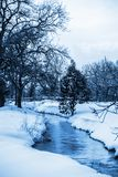 White and blue winter landscape Royalty Free Stock Photos