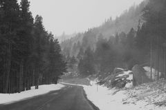 Cold Road Ahead royalty free stock photos
