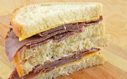 Cold Roast Beef And Cheddar Sandwich Royalty Free Stock Image