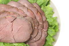 Cold Roast Beef Slices Stock Images