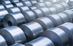 Free Cold Rolled Steel Coil At Storage Area In Steel Industry Stock Images - 108893884