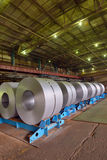 Cold rolled steel coils Stock Images