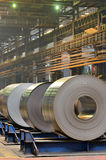 Cold rolled steel coils Stock Photos