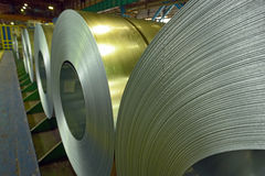 Cold rolled steel coils Stock Image