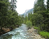 Yosemite National Park river royalty free stock images