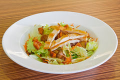 Cold salad with chicken meat Stock Images