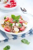 Cold salad of farro with mozzarella , tomato and tuna italy Stock Photography