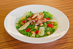 Cold salad with pork meat Royalty Free Stock Photography