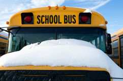 Cold School Bus Stock Photography