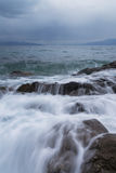Cold Sea Waves Stock Photo