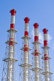 The cold season is finished. The thermal station works on half of capacity Stock Image