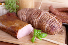 Cold smoked meat Royalty Free Stock Image