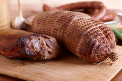 Cold smoked meat Royalty Free Stock Photo