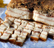 Cold-smoked pork fat Royalty Free Stock Photography