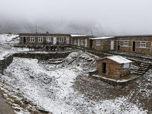 Cold snowy weather in Thorong High Camp, Nepal Stock Photos