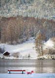 Cold and snowy winter in mountain Austria Stock Photo