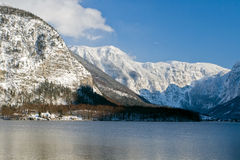 Cold and snowy winter in mountain Austria Royalty Free Stock Image