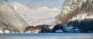 Cold and snowy winter in mountain Austria Royalty Free Stock Photos
