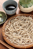 Cold soba buckwheat noodles, japanese food Stock Photography