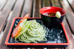 Cold soba noodle japanese traditional food Royalty Free Stock Photos