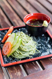 Cold soba noodle japanese traditional food Stock Image