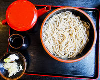 Cold Soba Noodles. Are a Japanese dish made of buckwheat Stock Images