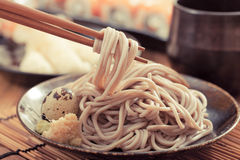 Cold soba. Noodles,Japanese food royalty free stock photos