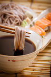 Cold soba. Noodles,Japanese food Royalty Free Stock Image