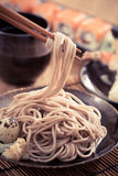 Cold soba. Traditional Japanese food stock photography