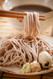 Cold soba. Traditional Japanese food stock images