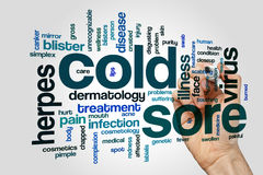 Cold sore word cloud Royalty Free Stock Photography