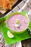 Cold soup with beetroot Royalty Free Stock Photos