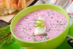 Cold soup with beetroot Stock Image