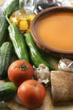 Cold soup gazpacho Stock Photography
