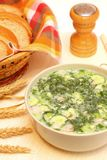 Cold soup okroshka Royalty Free Stock Images