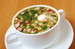 Cold soup, okroshka Royalty Free Stock Photography