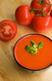 Cold Spanish tomato-based soup gazpacho Royalty Free Stock Photography