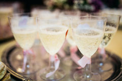 Cold sparkling champagne Stock Photography