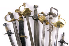 Cold steel of different times Royalty Free Stock Photo