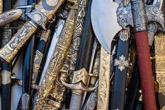 Cold steel weapons Royalty Free Stock Images