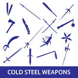 Cold steel weapons icons eps10 Stock Image