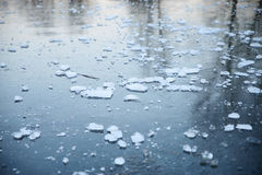 Cold. Stock image of a frozen lake Stock Image