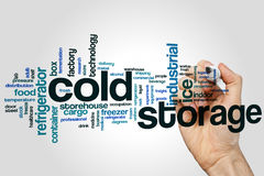 Cold storage word cloud concept on grey background Stock Photos