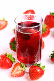 Cold strawberry drink Stock Images