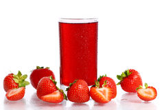 Cold strawberry drink Stock Image
