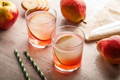 Cold summer cocktail drink with pear Royalty Free Stock Photo