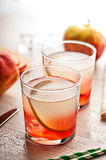 Cold summer cocktail drink with pear Stock Images