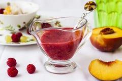 Cold summer dessert soup Stock Image