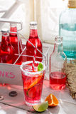 Cold summer drink in bottle Royalty Free Stock Images